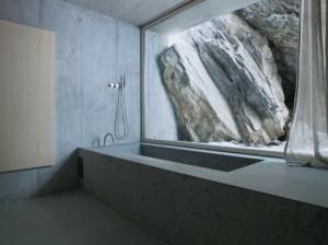 Concrete, interior, bath