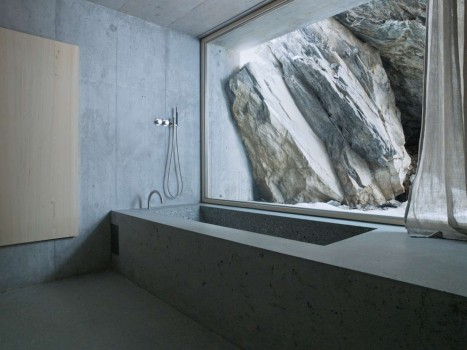 Concrete, interior, bath