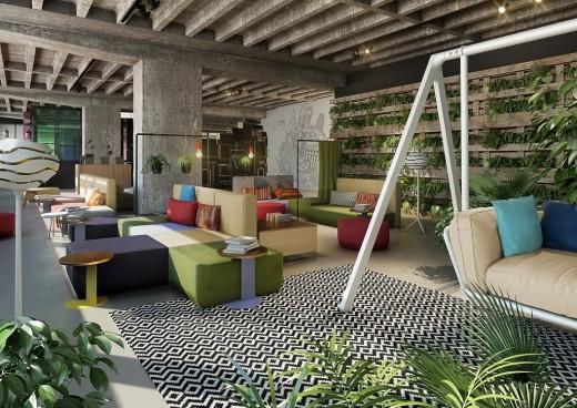 25 hour bikini hotel berlin jungle heaven archinature for Design hotel berlino