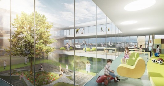53208f76c07a80688c000464_gmp-wins-first-prize-to-design-swiss-children-s-hospital_2946_140207_chuv_he_02-530x281
