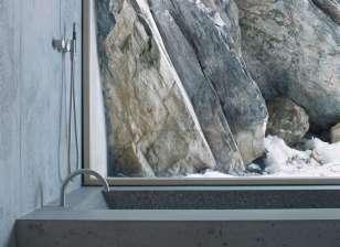 concrete bath tub