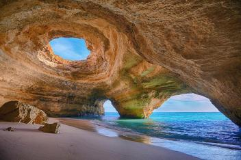 Cave in Algarve, Portuga lmage credits: Bruno Carlos