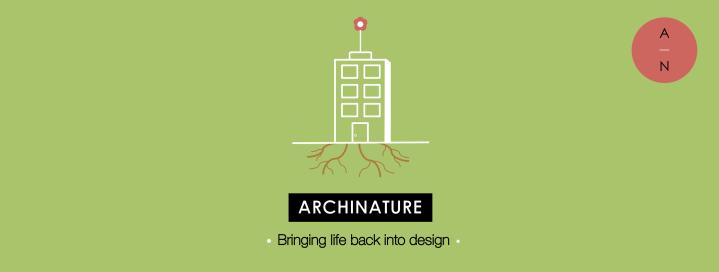 archinature, logo, design, life, architecture, nature