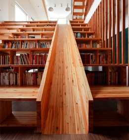 Slide, bookcase, seating and stairs. 4 in 1!