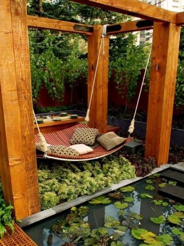 Four post hammock, outdoor